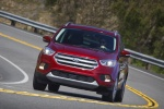 2017 Ford Escape Titanium in Ruby Red Metallic Tinted Clearcoat - Driving Frontal View