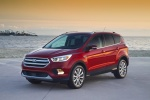 2018 Ford Escape Titanium in Ruby Red Metallic Tinted Clearcoat - Static Front Left Three-quarter View