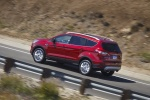 2018 Ford Escape Titanium in Ruby Red Metallic Tinted Clearcoat - Driving Rear Left Three-quarter View
