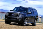 2010 Ford Expedition EL in Tuxedo Black Metallic - Static Front Left Three-quarter View