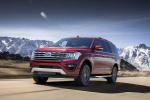 2019 Ford Expedition XLT FX4 in Ruby Red Metallic Tinted Clearcoat - Driving Front Left Three-quarter View