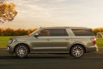 2019 Ford Expedition Max Platinum in Stone Gray Metallic - Static Left Side View