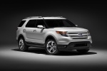 2011 Ford Explorer Limited 4WD in White Suede - Static Front Right Three-quarter View