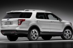 2015 Ford Explorer Limited 4WD in White - Static Rear Right Three-quarter View