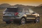 2019 Ford Explorer Sport 4WD in Magnetic Metallic - Static Rear Right Three-quarter View