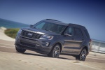 2019 Ford Explorer Sport 4WD in Magnetic Metallic - Driving Front Left Three-quarter View