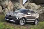 2019 Ford Explorer Platinum 4WD in Magnetic Metallic - Static Front Left Three-quarter View