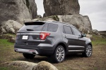 2019 Ford Explorer Platinum 4WD in Magnetic Metallic - Static Rear Right Three-quarter View