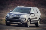 2019 Ford Explorer Platinum 4WD in Magnetic Metallic - Driving Front Left View
