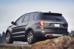 2019 Ford Explorer Platinum 4WD in Magnetic Metallic - Driving Rear Left Three-quarter View