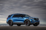 2020 Ford Explorer ST EcoBoost 4WD in Atlas Blue Metallic - Static Front Right Three-quarter View
