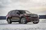 2020 Ford Explorer Platinum V6 EcoBoost 4WD in Rich Copper Metallic Tinted Clearcoat - Static Front Right Three-quarter View