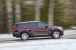 2020 Ford Explorer Platinum V6 EcoBoost 4WD in Rich Copper Metallic Tinted Clearcoat - Driving Right Side View