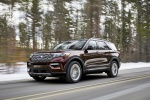 2020 Ford Explorer Platinum V6 EcoBoost 4WD in Rich Copper Metallic Tinted Clearcoat - Driving Front Left Three-quarter View