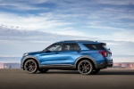 2020 Ford Explorer ST EcoBoost 4WD in Atlas Blue Metallic - Static Rear Left Three-quarter View