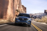2020 Ford Explorer ST EcoBoost 4WD in Atlas Blue Metallic - Driving Frontal View