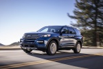 2020 Ford Explorer Limited in Atlas Blue Metallic - Driving Front Left View