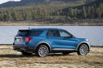 2020 Ford Explorer Hybrid Limited 4WD in Atlas Blue Metallic - Static Rear Right Three-quarter View