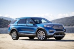 2020 Ford Explorer Hybrid Limited 4WD in Atlas Blue Metallic - Static Front Right Three-quarter View