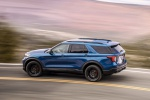 2020 Ford Explorer ST EcoBoost 4WD in Atlas Blue Metallic - Driving Rear Left Three-quarter View