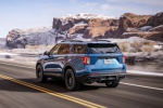 2020 Ford Explorer ST EcoBoost 4WD in Atlas Blue Metallic - Driving Rear Left View