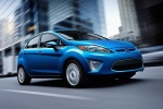 2011 Ford Fiesta Hatchback in Blue Flame Metallic - Driving Front Right Three-quarter View