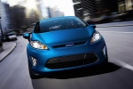 2011 Ford Fiesta Hatchback in Blue Flame Metallic - Driving Frontal View