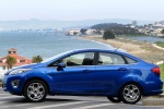 2012 Ford Fiesta Sedan in Blue Flame Metallic - Static Side View