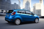 2013 Ford Fiesta Hatchback in Blue Candy Metallic Tinted Clearcoat - Driving Rear Right Three-quarter View