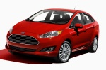 2014 Ford Fiesta Sedan Titanium in Race Red - Static Front Left Three-quarter View
