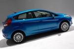 2014 Ford Fiesta Hatchback Titanium in Blue Candy Metallic Tinted Clearcoat - Static Rear Right Three-quarter View