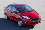 2017 Ford Fiesta Sedan Titanium in Ruby Red Metallic Tinted Clearcoat - Static Front Right View