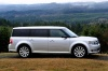 2013 Ford Flex SEL in Ingot Silver Metallic from a side view