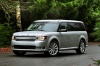 2013 Ford Flex SEL in Ingot Silver Metallic from a front left three-quarter view