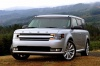 2015 Ford Flex SEL in Ingot Silver Metallic from a front left view