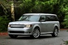 2015 Ford Flex SEL in Ingot Silver Metallic from a front left three-quarter view