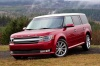 2016 Ford Flex SEL in Ruby Red Metallic Tinted Clearcoat from a front left three-quarter view