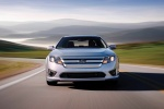 2010 Ford Fusion Hybrid in Brilliant Silver Metallic - Driving Frontal View
