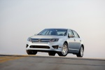2010 Ford Fusion Hybrid in Brilliant Silver Metallic - Static Front Left Three-quarter View