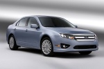 2011 Ford Fusion Hybrid in Light Ice Blue Metallic - Static Front Right Three-quarter View
