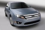 2011 Ford Fusion Hybrid in Light Ice Blue Metallic - Static Front Right View
