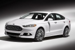 2013 Ford Fusion Titanium AWD in Oxford White - Static Front Left Three-quarter View