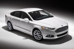 2014 Ford Fusion Titanium AWD in Oxford White - Static Front Right Three-quarter Top View