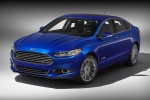 2015 Ford Fusion Hybrid SE in Deep Impact Blue - Static Front Left Three-quarter View