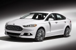 2015 Ford Fusion Titanium AWD in Oxford White - Static Front Left Three-quarter View