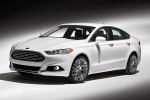 2016 Ford Fusion Titanium AWD in Oxford White - Static Front Left Three-quarter View