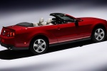 2010 Ford Mustang GT Convertible in Torch Red - Static Rear Right Three-quarter View