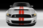 2011 Shelby GT500 Convertible in Performance White - Static Frontal View