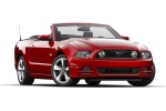 2013 Ford Mustang GT Convertible in Red Candy Metallic Tinted Clearcoat - Static Front Right Three-quarter View