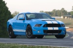 2013 Shelby GT500 Coupe in Grabber Blue - Static Front Right Three-quarter View